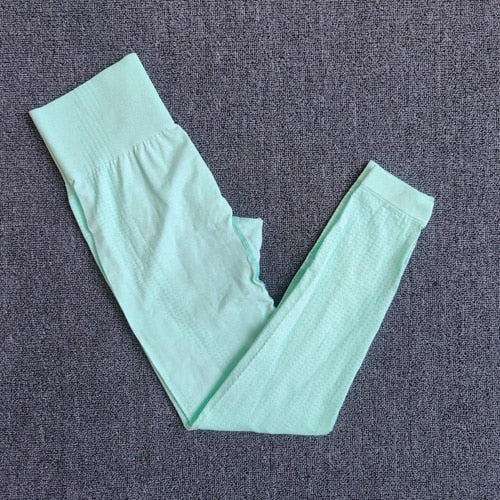Green-Seamless compression high waist leggings cheap