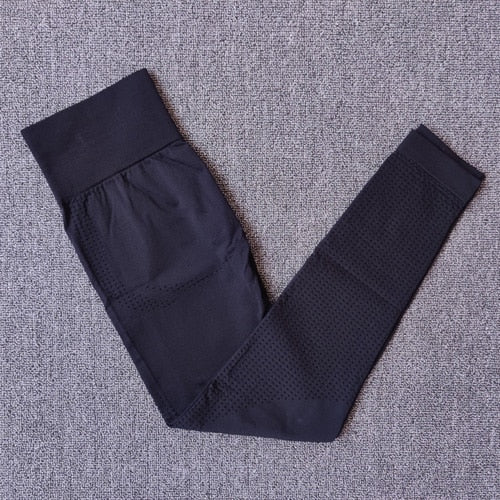 Black-Seamless compression high waist leggings cheap