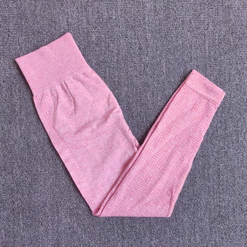 pink-Seamless compression high waist leggings cheap