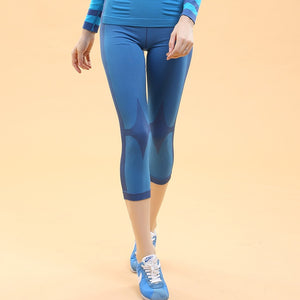 Women Gymming High Waist QUICK-DRY Push up Sliming Capri Cropped Legging