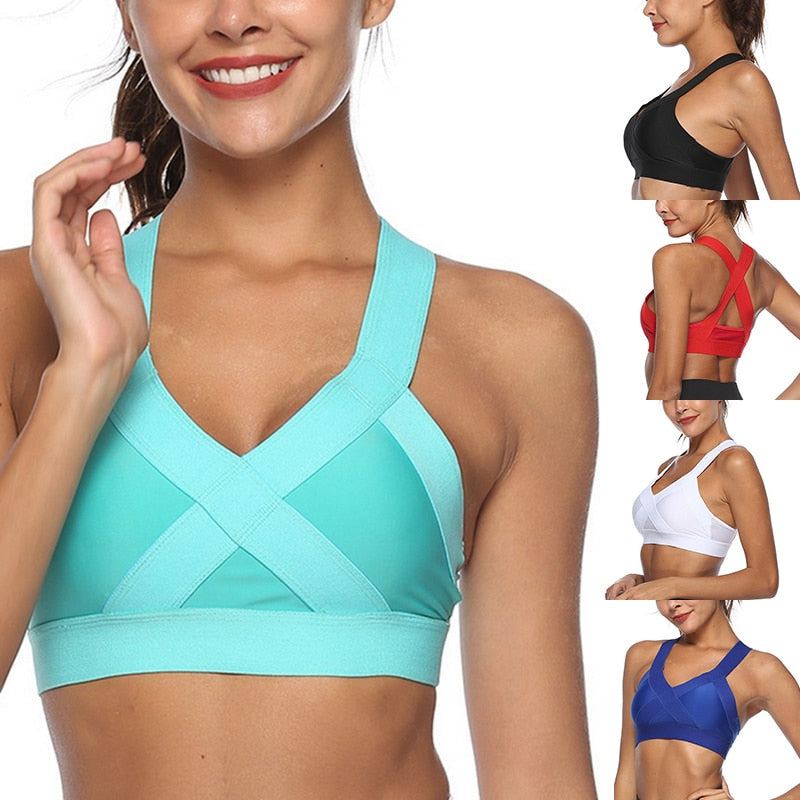 Women's Shockproof Breathable Athletic Bra Vest