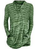 women's long sleeve sweatshirt pullover green spring