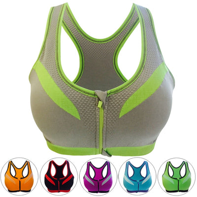 sports bra shock absorber WITH front closure