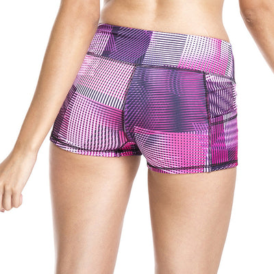 Summer Womens High Waist Stitching Yoga Shorts