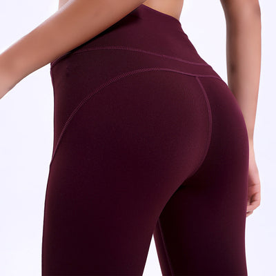 Stitching High Waist Scrunch Butt Skinny Gym Workout Tights pants