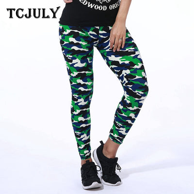 Style Camouflage  Push Up Skinny High Elastic Female army green workout leggings