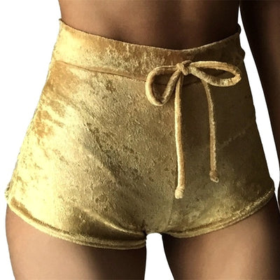 New Drawstring Women Yoga Shorts