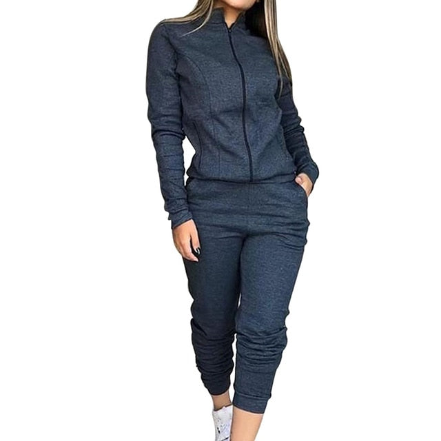 Dark Gray-Long Sleeve fashion joggers women's jogging bottoms pants outfit sweatshirts