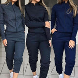 Long Sleeve fashion joggers women's jogging bottoms pants outfit sweatshirts