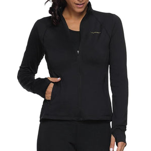 women's workout long sleeve black yoga top