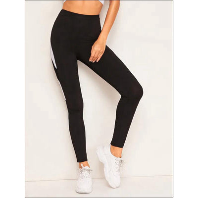 Women's Mesh Black White Athleisure Pants