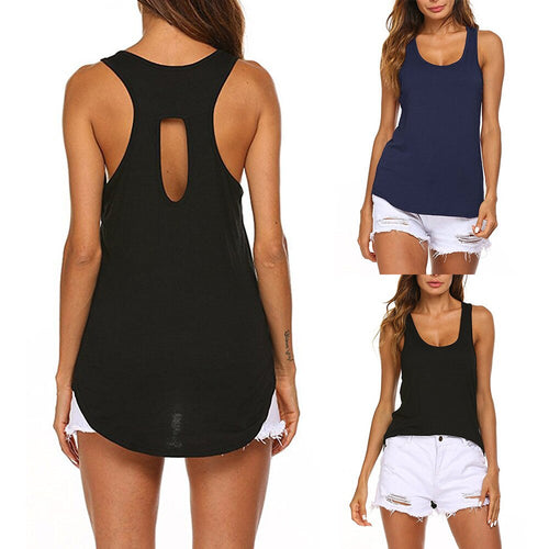 Women Backless t-shirt ; sport tops backless