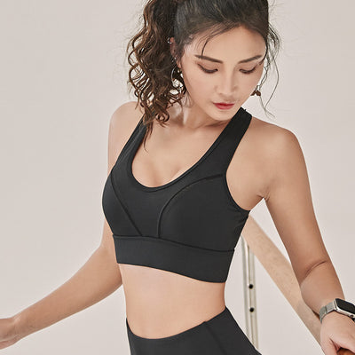 Woman Push Up Shockproof Breathable  High Stretch Yoga Sports Bra