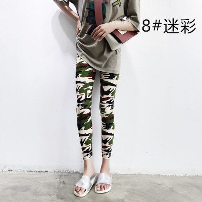 High Elastic Camouflage Army green Workout Women Leggings