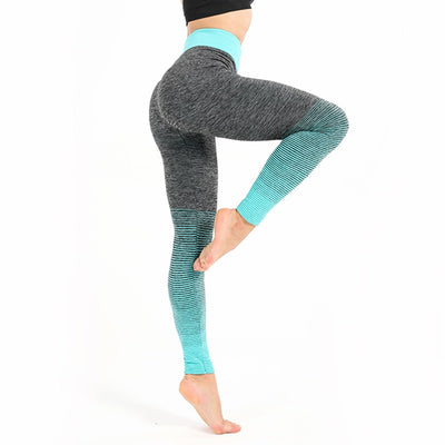 Women Gray Push Up High Waist Leggings