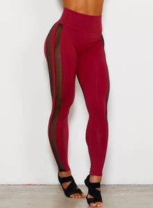 red leggings high waisted women