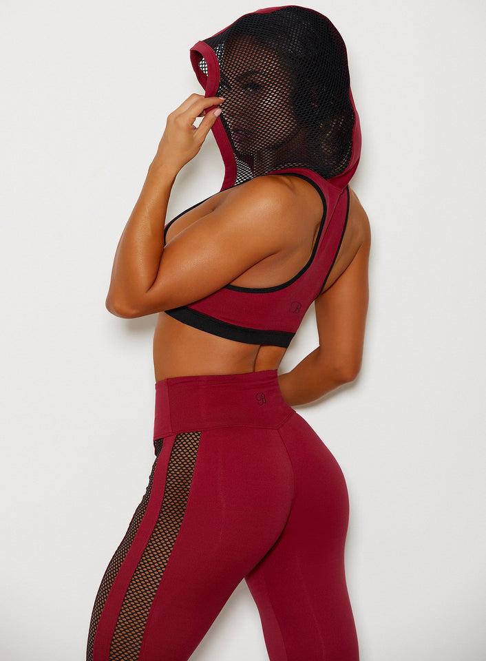 women's workout red bra+ leggings
