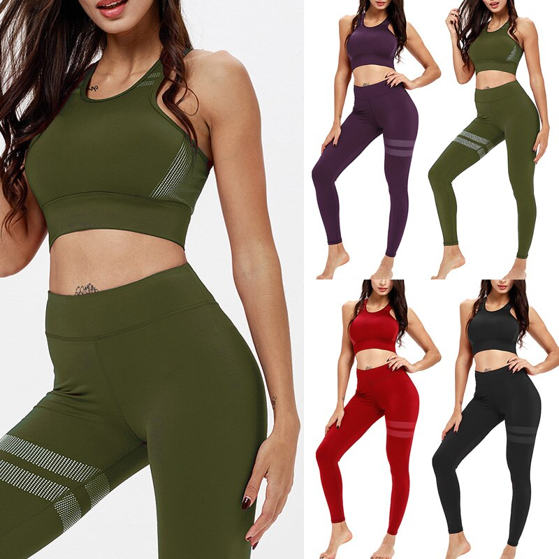 Sleeveless Vest High Waist Breathable Slim Fit Clothing Set