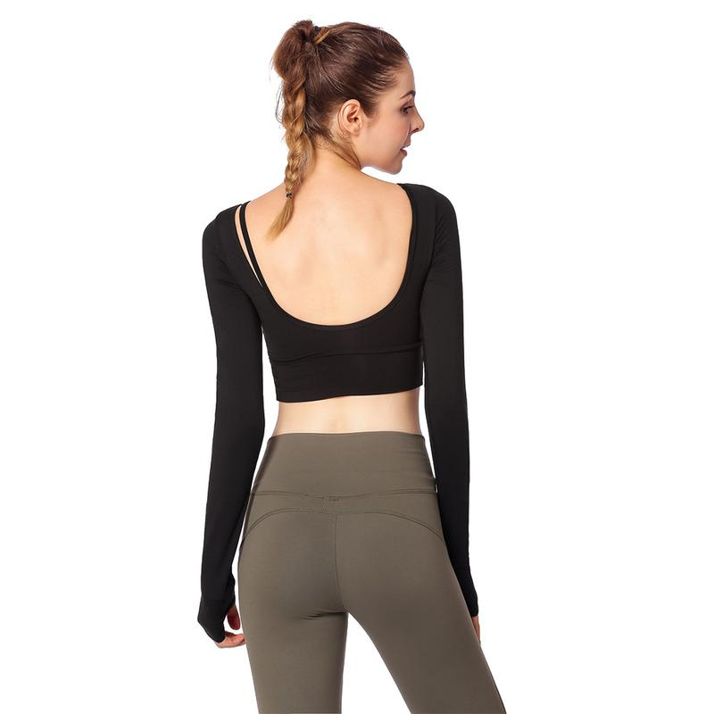 Backless Women Long Sleeve Activewear Tops