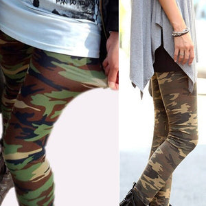 Women Slim Fit Thin Fashion military Camouflage Cropped Leggings