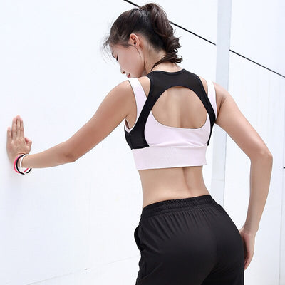 Women's Double Layer High Neck Sports Bra