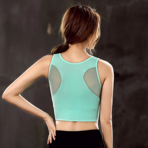 Women's Breathable Sports Bra with Removable Cups