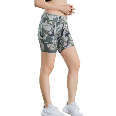 Quickdry army-green shorts army green workout Leggings