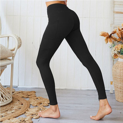 2019 New Pocket Push Up Female High Waist Workout ActiveWear Legging
