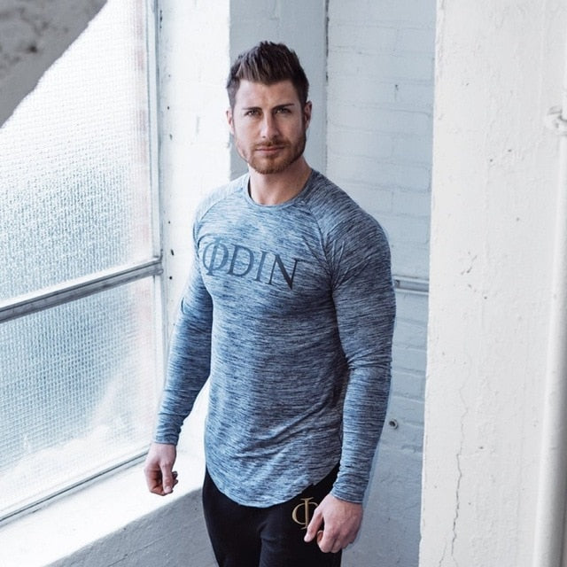 Men's gray Short Sleeve Workout T-shirts Casual Top Tees Plus Size