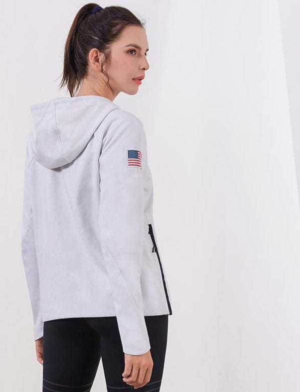2019 New Fashion Trendy Women workout Quick-dry Long-sleeved Running Gym Sweatshirt zipper Jacket