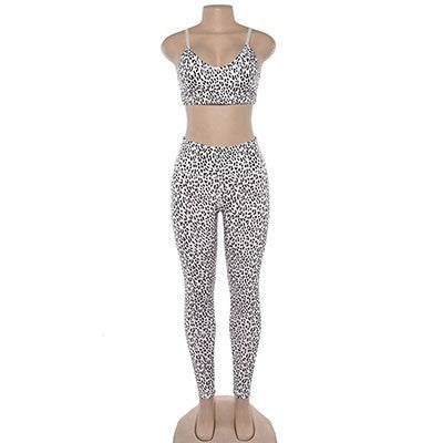 2019 Seamless Women's  Leopard Fitness Yoga Sets