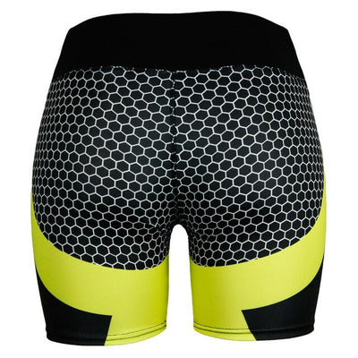 High Waist Fashion Breathable Women's Running Jogging Gym Workout Yoga Shorts Sports