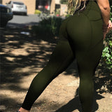 Sexy Push Up High Waist Workout  Women  POCKET Leggings