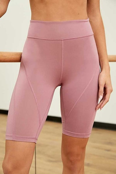 Knee Length High Waist Yoga Shorts for Women