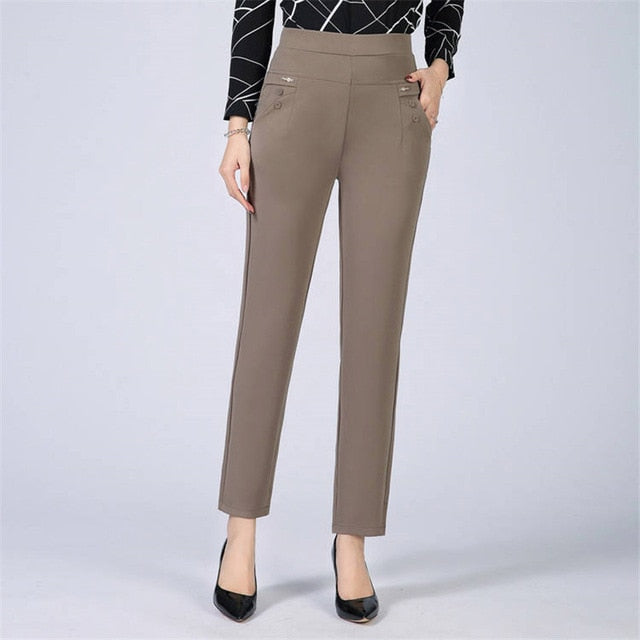 Plus Size business Formal women trousers