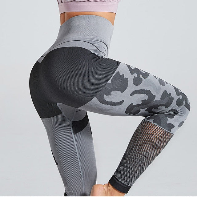 High Waist Skinny Pants Camouflage Seamless Leggings For Women