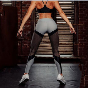 Women Fashion Push Up Patchwork Leggings