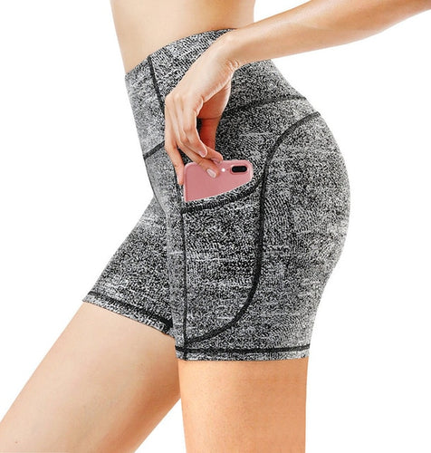 High Waist Athletic Pocket Yoga Shorts For Women