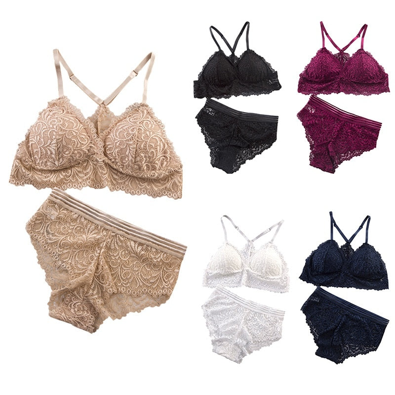 Women Wireless Breathable Underwear Lingerie Set