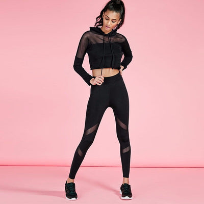 Women Yoga Top + Sports Pants Yoga Set