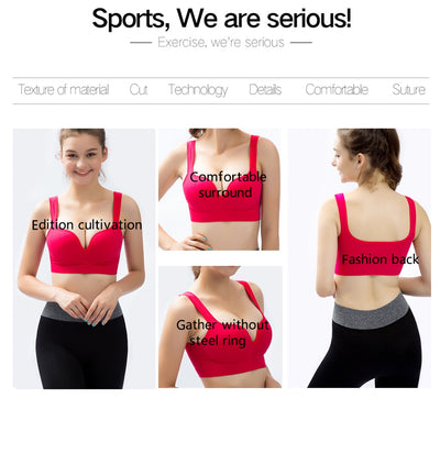 Ladies Padded Push up Yoga Fitness Daily Wear Wire Free Bra