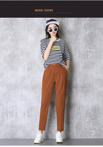 Women Elastic High Waist Harem Pants