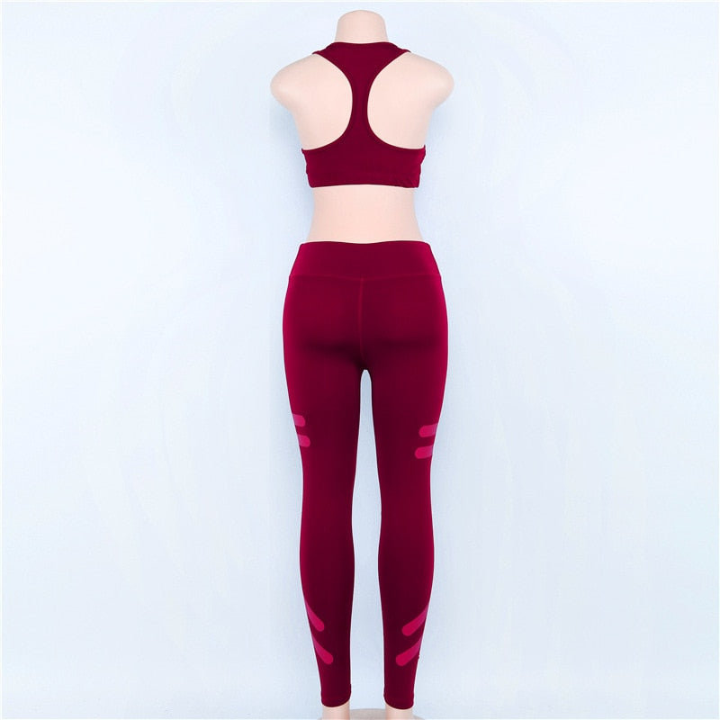 Workout Slimming Leggings And Fitness Sporting Bras For Women