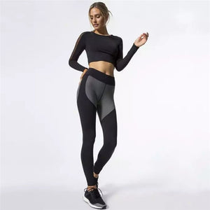 Women's Fashion Workout Sports Gym Running Yoga Set
