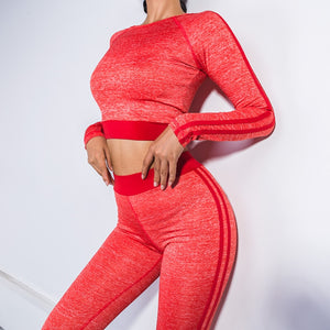 Hot newest women yoga running fitness set 3 colors