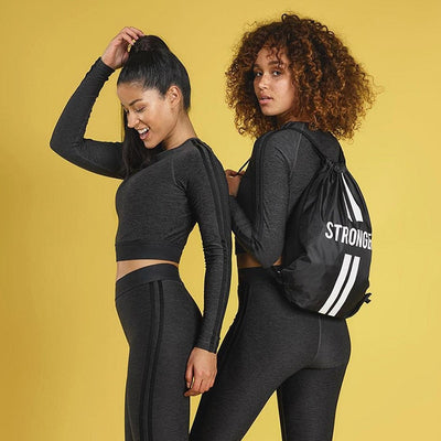 Long Sleeve Sports Tops + High Waist Fitness Pants-Yoga Sports Sets