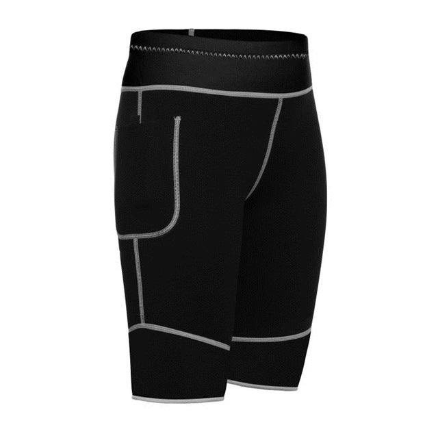 black Plus size Slimming neoprene shorts womens workout bottoms
