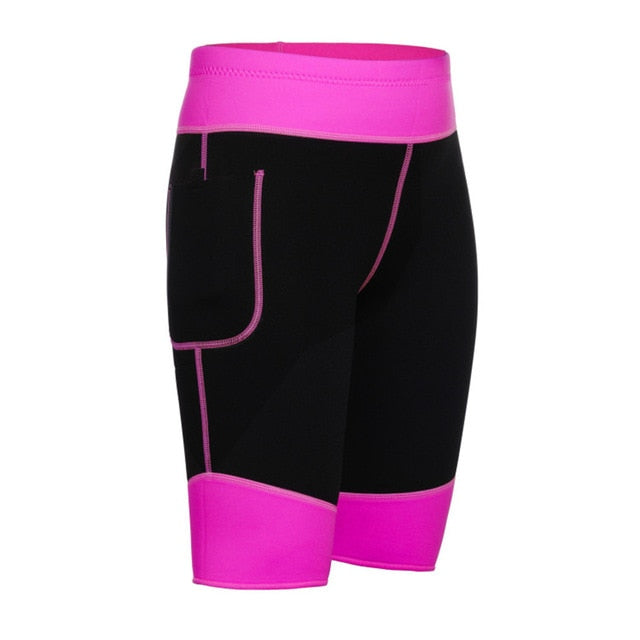 rose Plus size Slimming neoprene shorts womens workout bottoms
