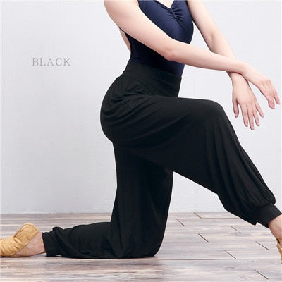 womens yoga pants Black Harem