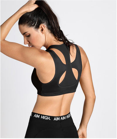 Women's Racerback Wirefree Sports Bra Top